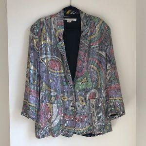 Sandy Starkman Sequin Blazer